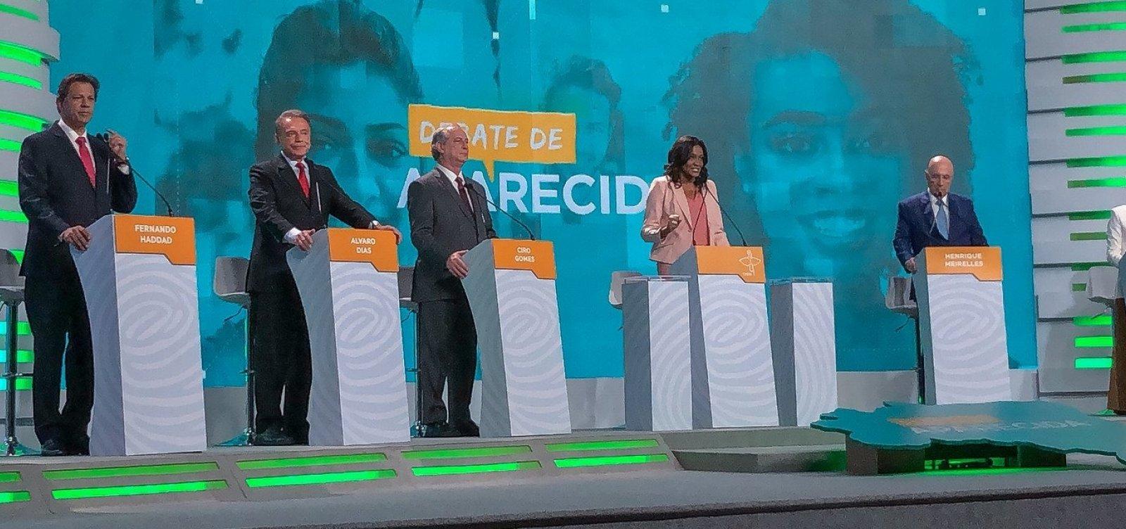 Presidenciáveis participam hoje do último debate antes do 1º turno