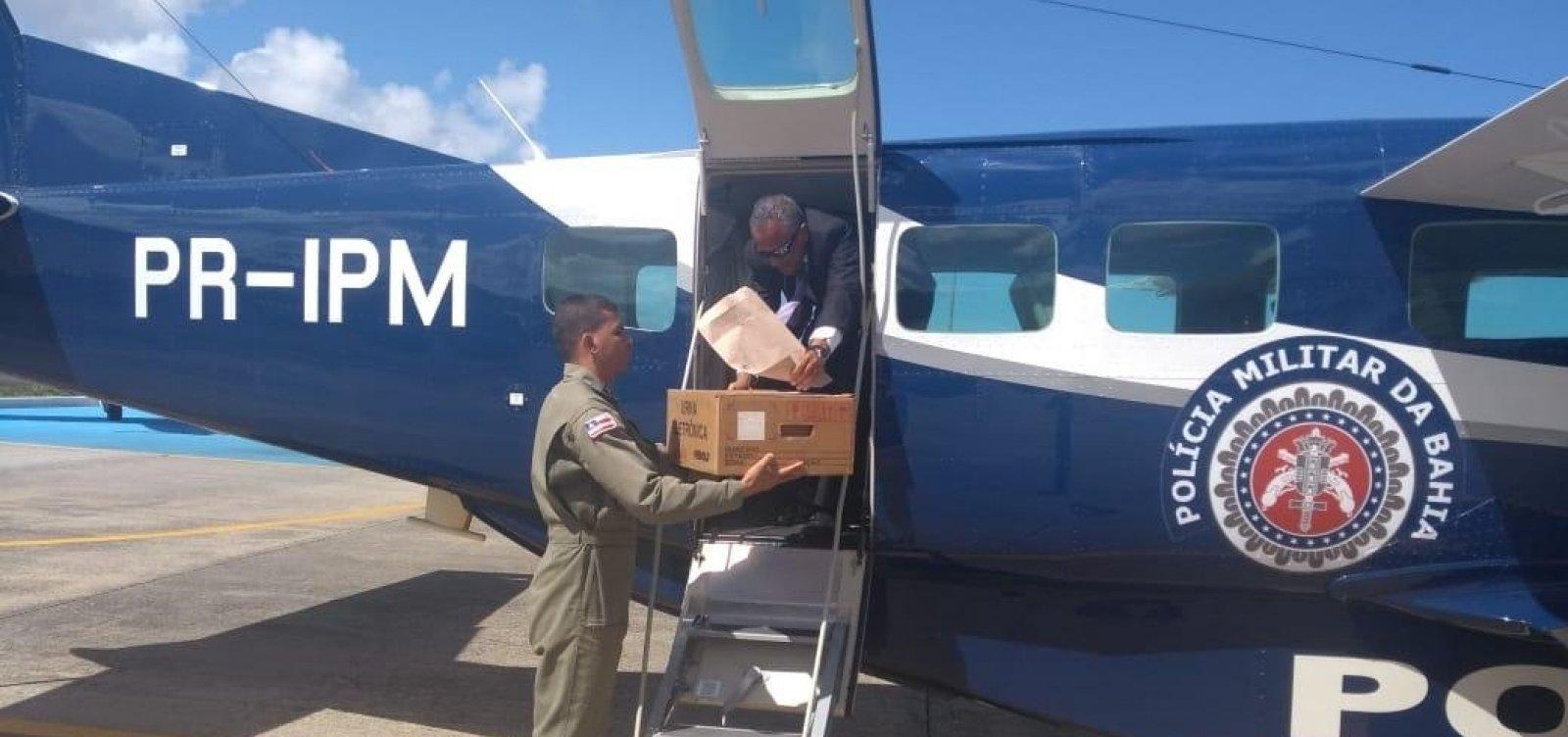 Graer transporta urnas eletrônicas para interior da Bahia