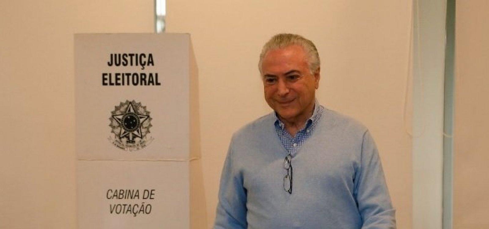 'Depois de terminado o pleito, todos os brasileiros vão se unir', diz Temer