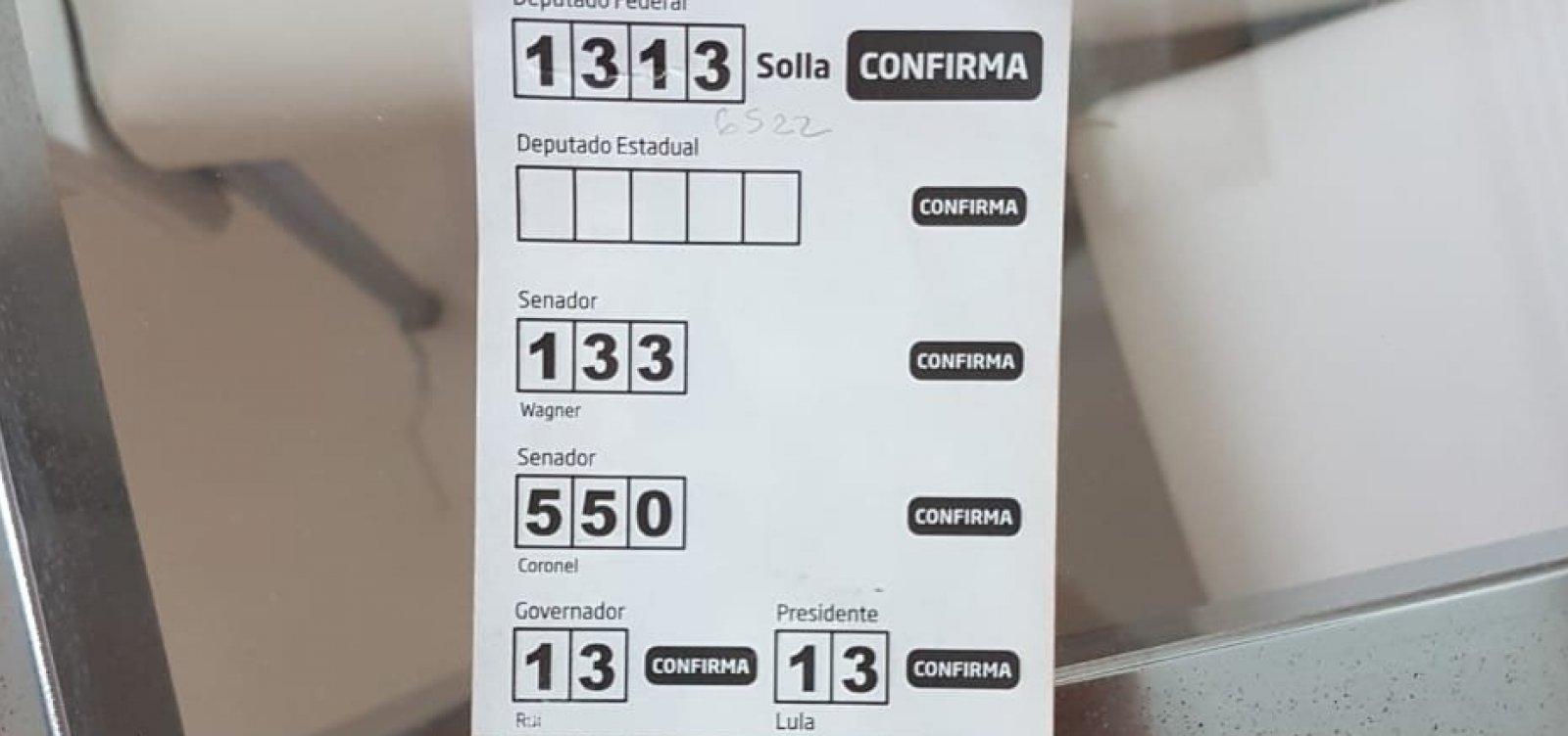 Santinho de Solla tem números errados de Wagner e Coronel