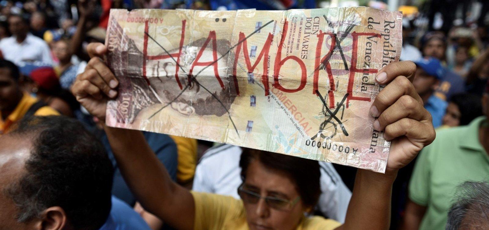 Relatório da oposição diz que inflação anual chega a 488.865% na Venezuela