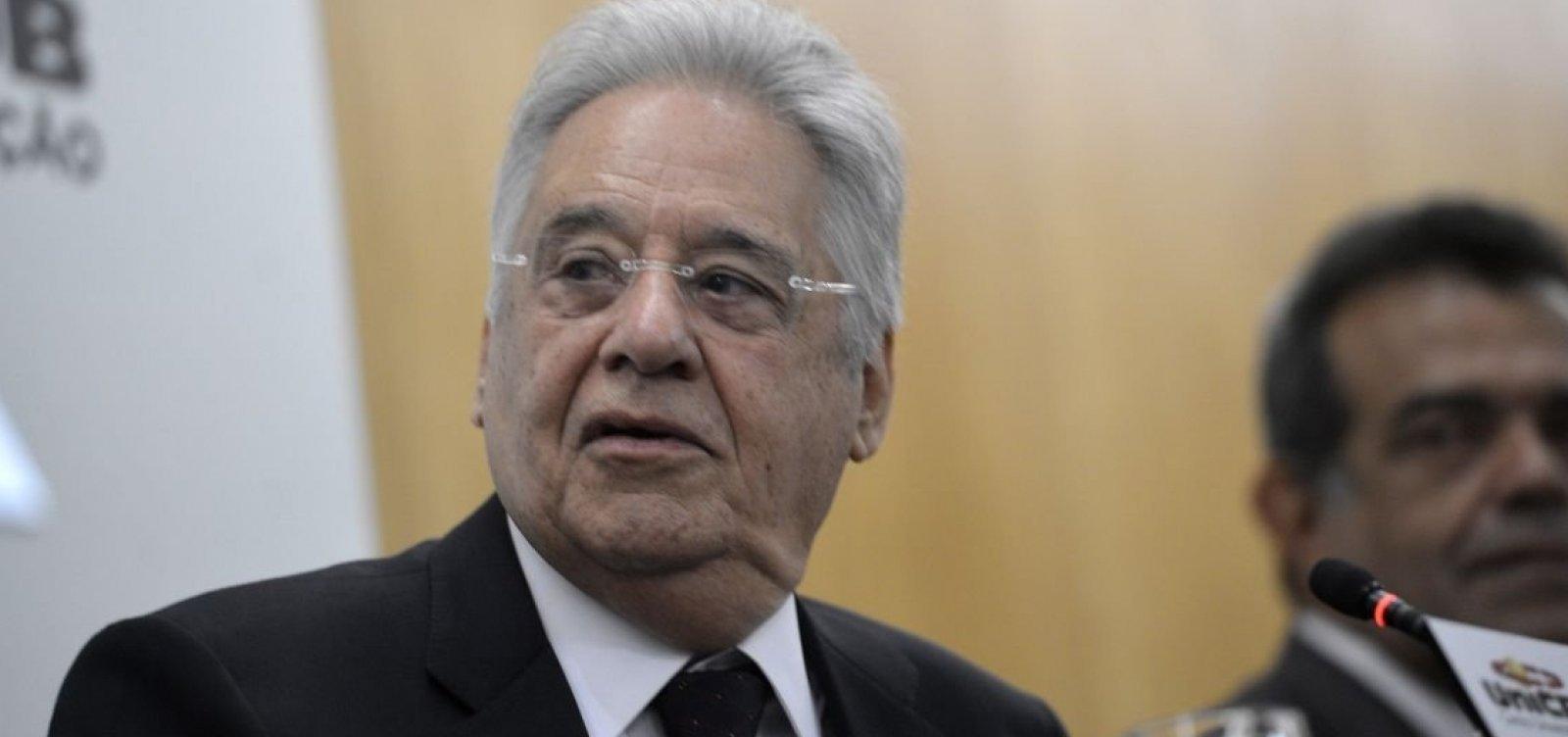 FHC desmente apoio a Haddad e diz que não apoia nem Bolsonaro, nem PT no segundo turno