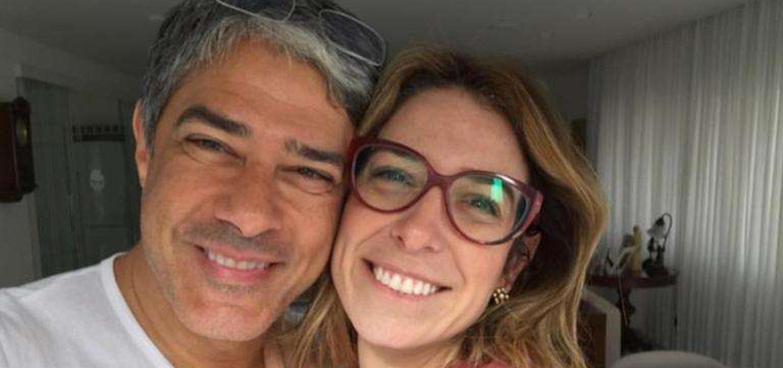 Mulher de William Bonner celebra um mês de casados: 'Primeiro de muitos'