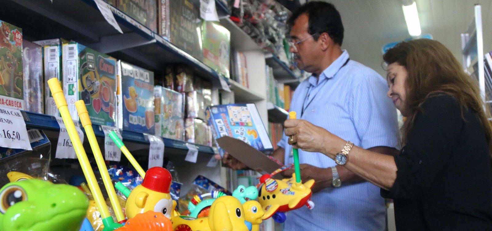 Semop apreende 151 produtos em primeiro dia de Operação Brinquedo Seguro