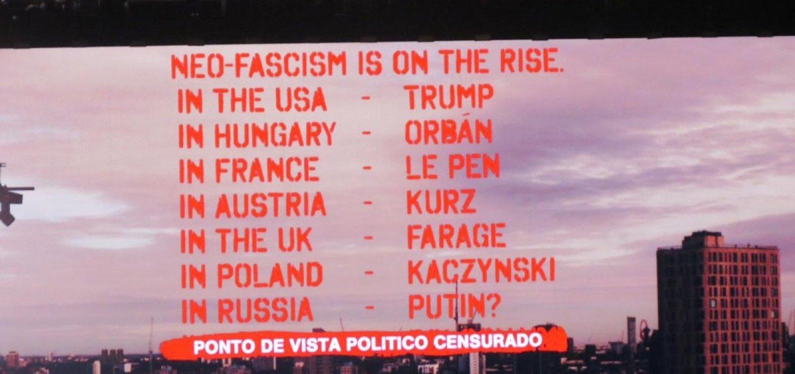 Roger Waters volta a protestar contra Bolsonaro