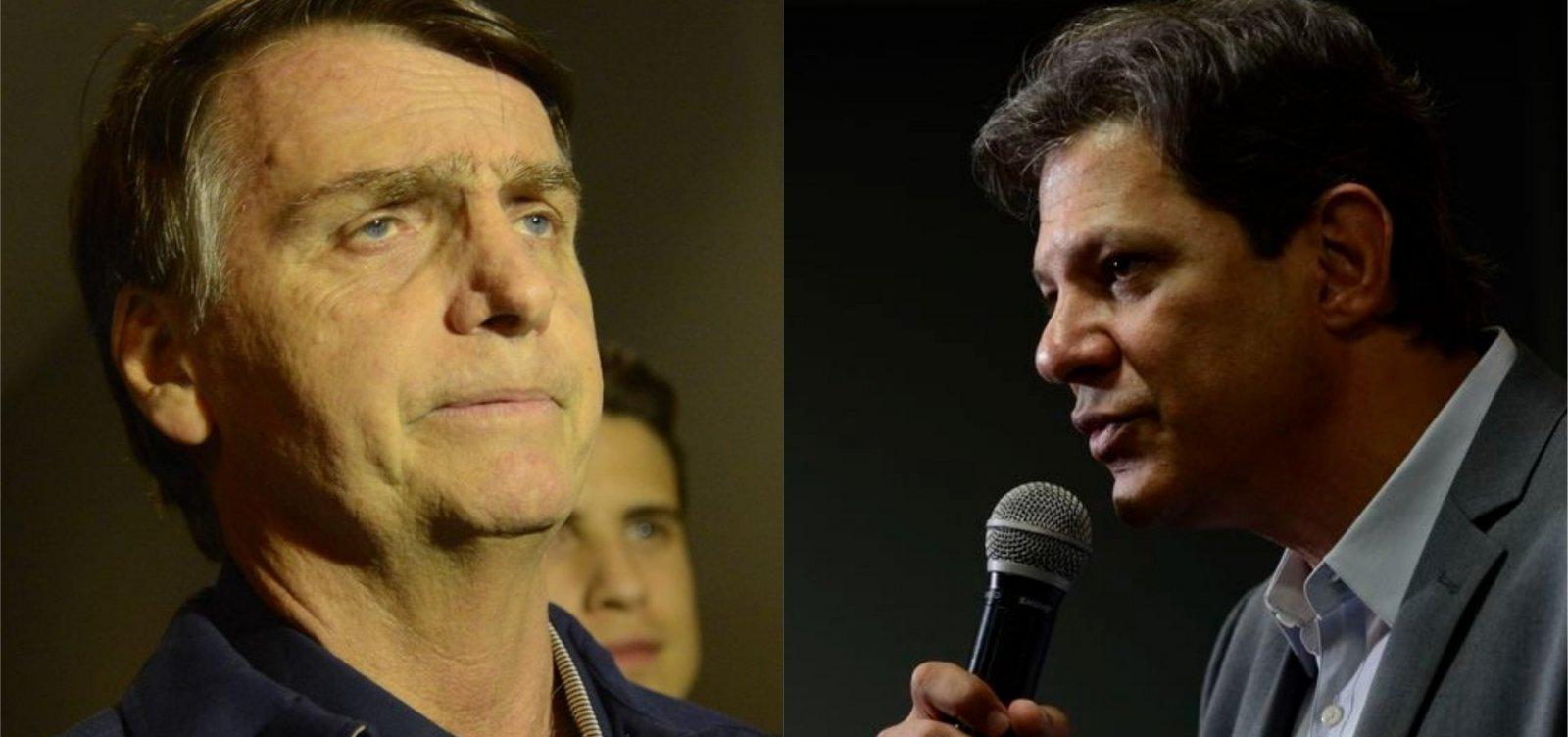 Bolsonaro e Haddad fazem apelos contra a violência política