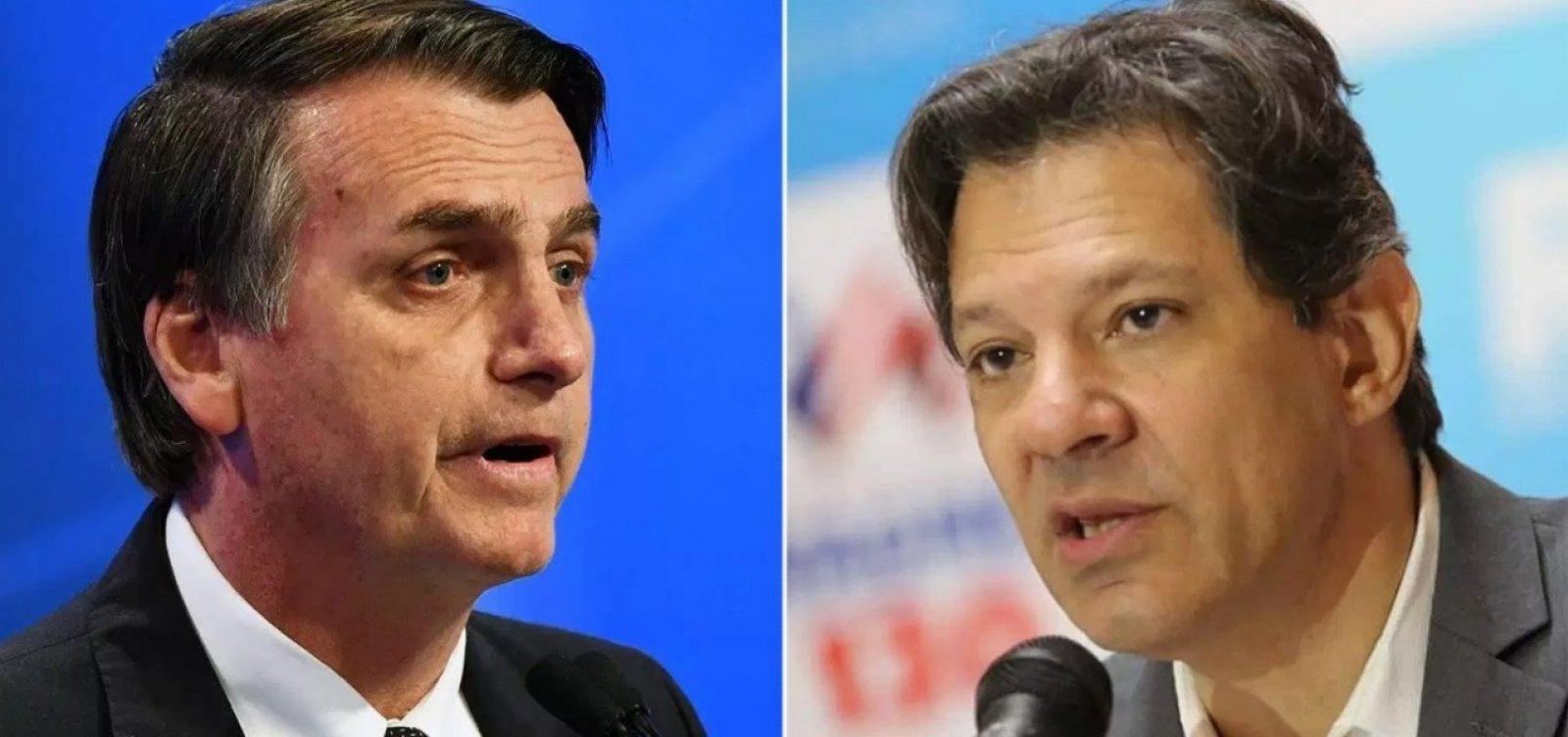 Bolsonaro investe em ataque ao PT; Haddad deixa de lado 'agenda Lula'