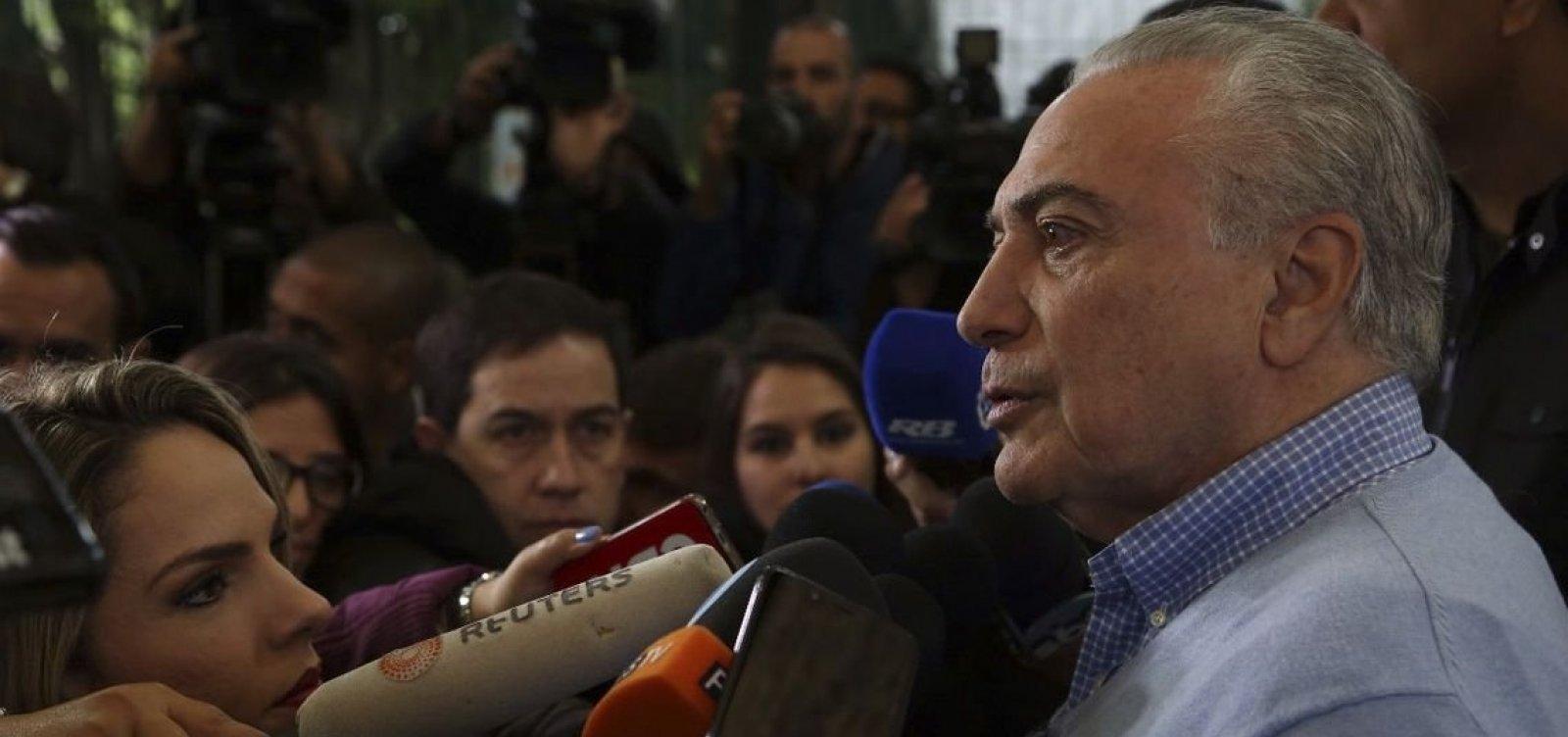 'Após a eleição o Brasil estará reunificado', diz Temer