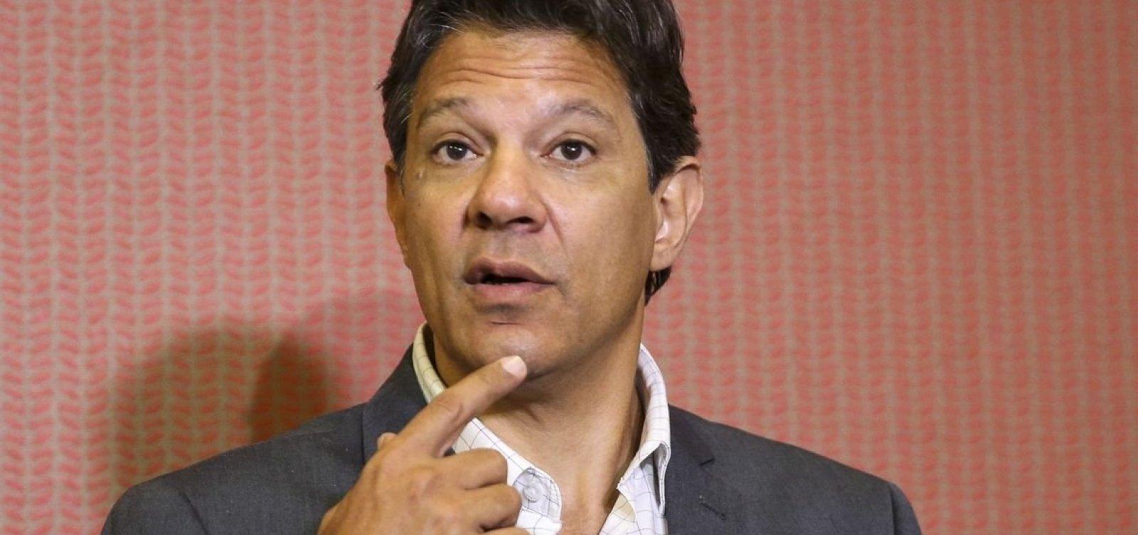 Haddad admite que diretores 'ficaram soltos para promover corrupção' em governos do PT
