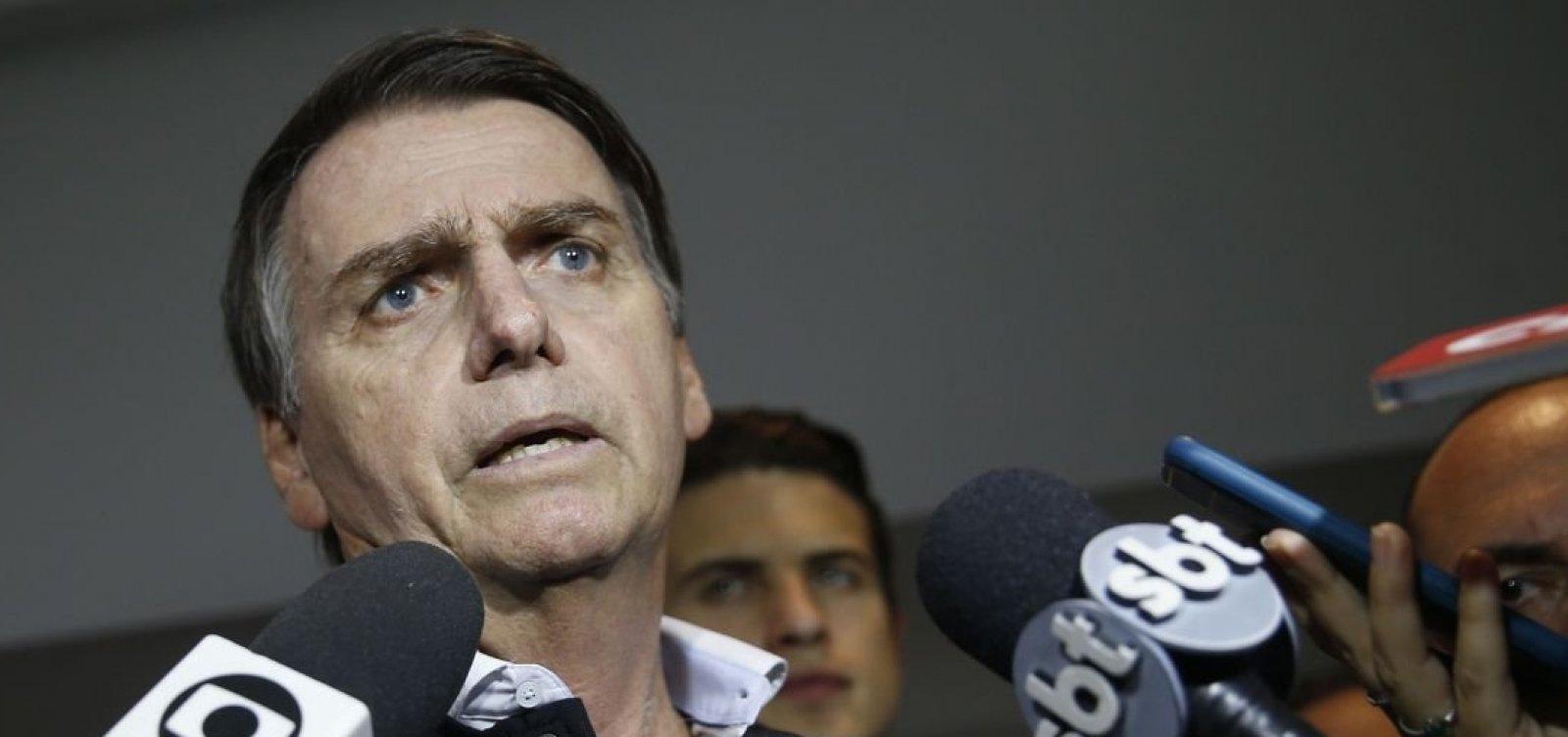 Bolsonaro diz que participará de debate com Haddad se não houver terceiros