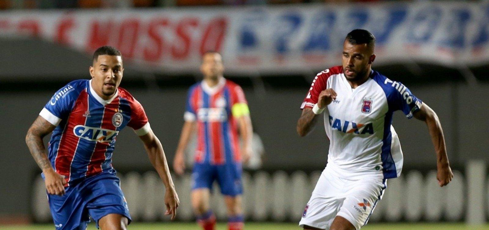 Com Pituaçu lotado, Bahia vence o Paraná por 2 a 0
