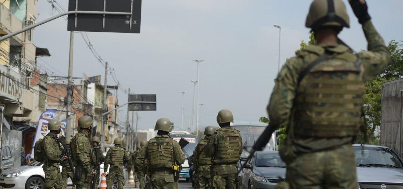 Forças Armadas e Polícia Federal fazem operação no RJ