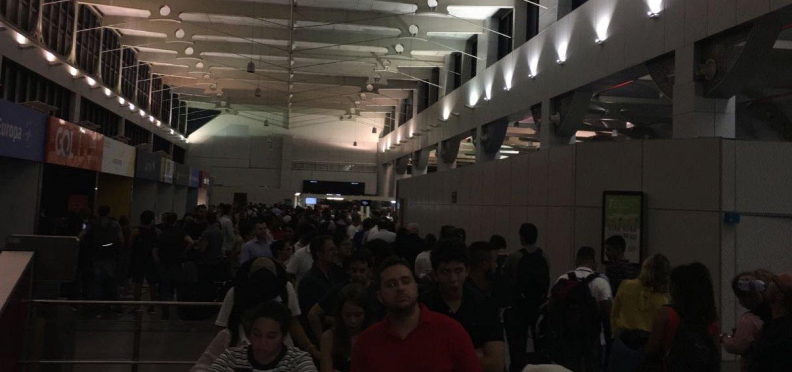 Queda de luz no aeroporto atrasou 17 voos; Vinci diz mobilizar 'toda equipe' para normalizar operação
