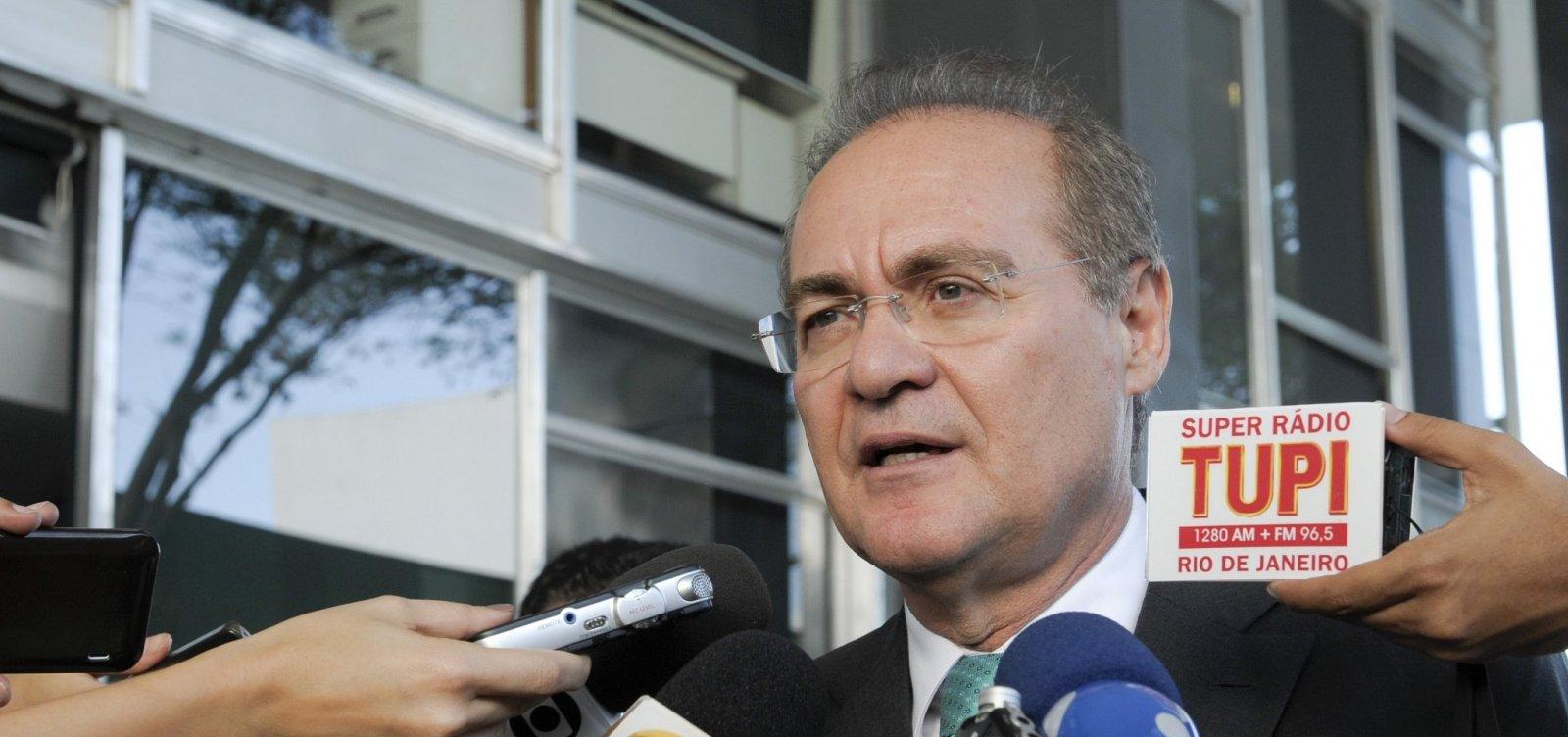 Renan Calheiros diz ter apoio de 40 senadores na disputa pela presidência