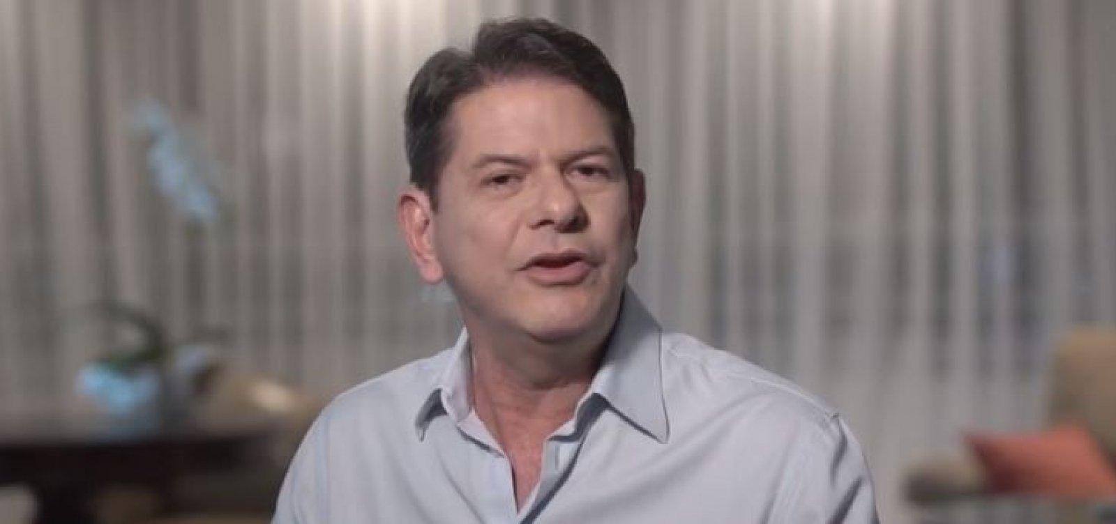 Cid Gomes divulga vídeo em apoio a Haddad: 'É o melhor para o Brasil'