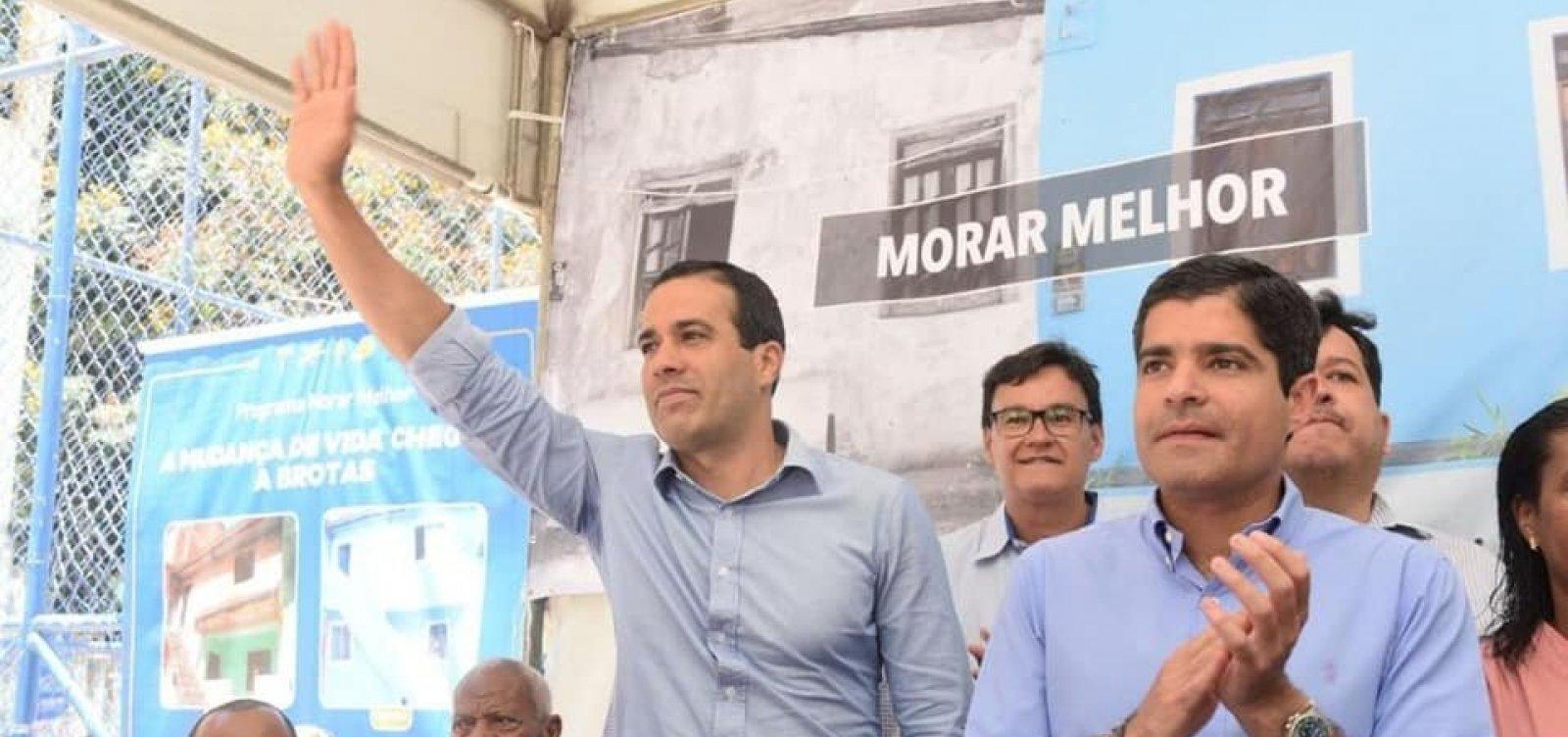 ACM Neto coloca vice-prefeito à frente de inaugurações