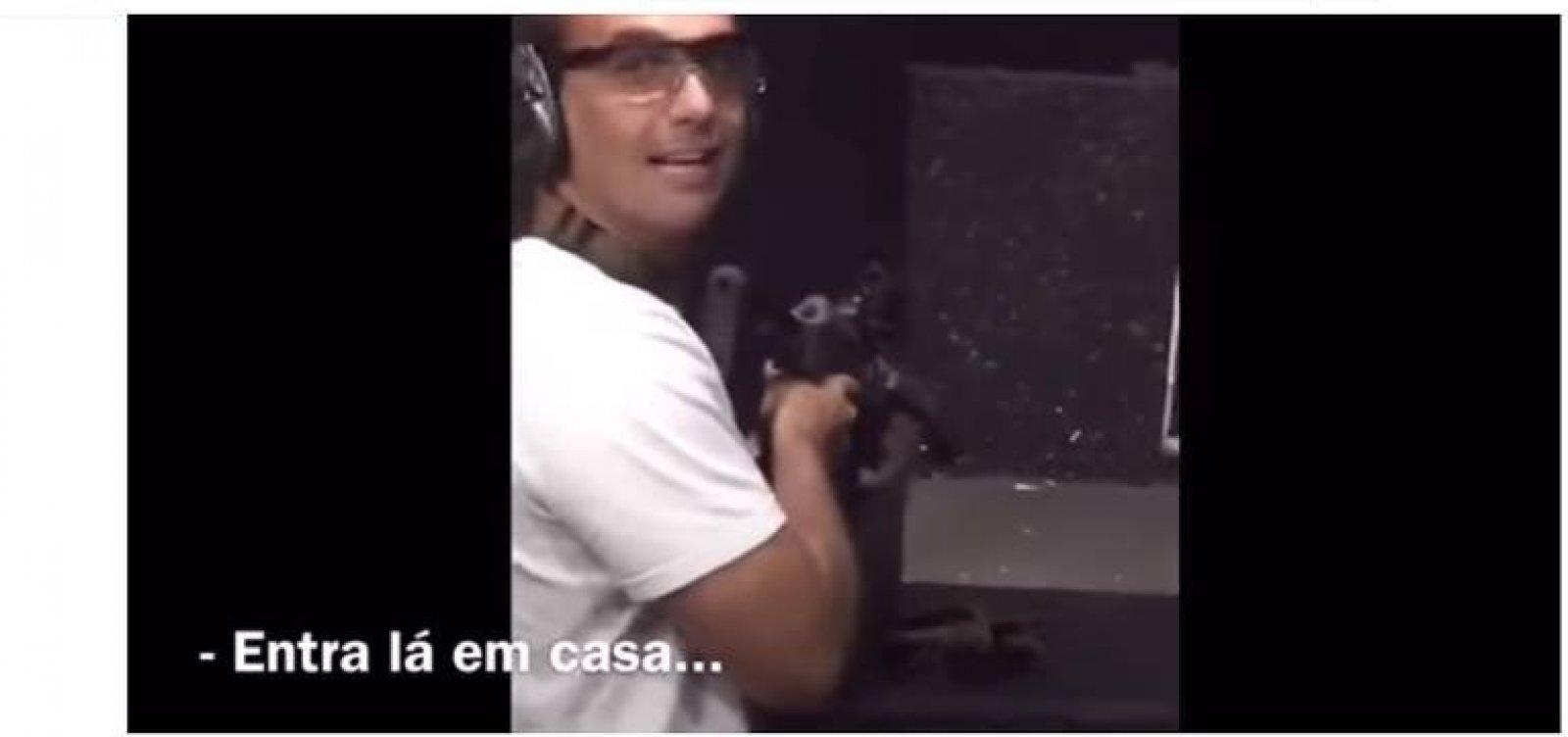 Câmara pagou voos para filho de Bolsonaro treinar tiro em SC