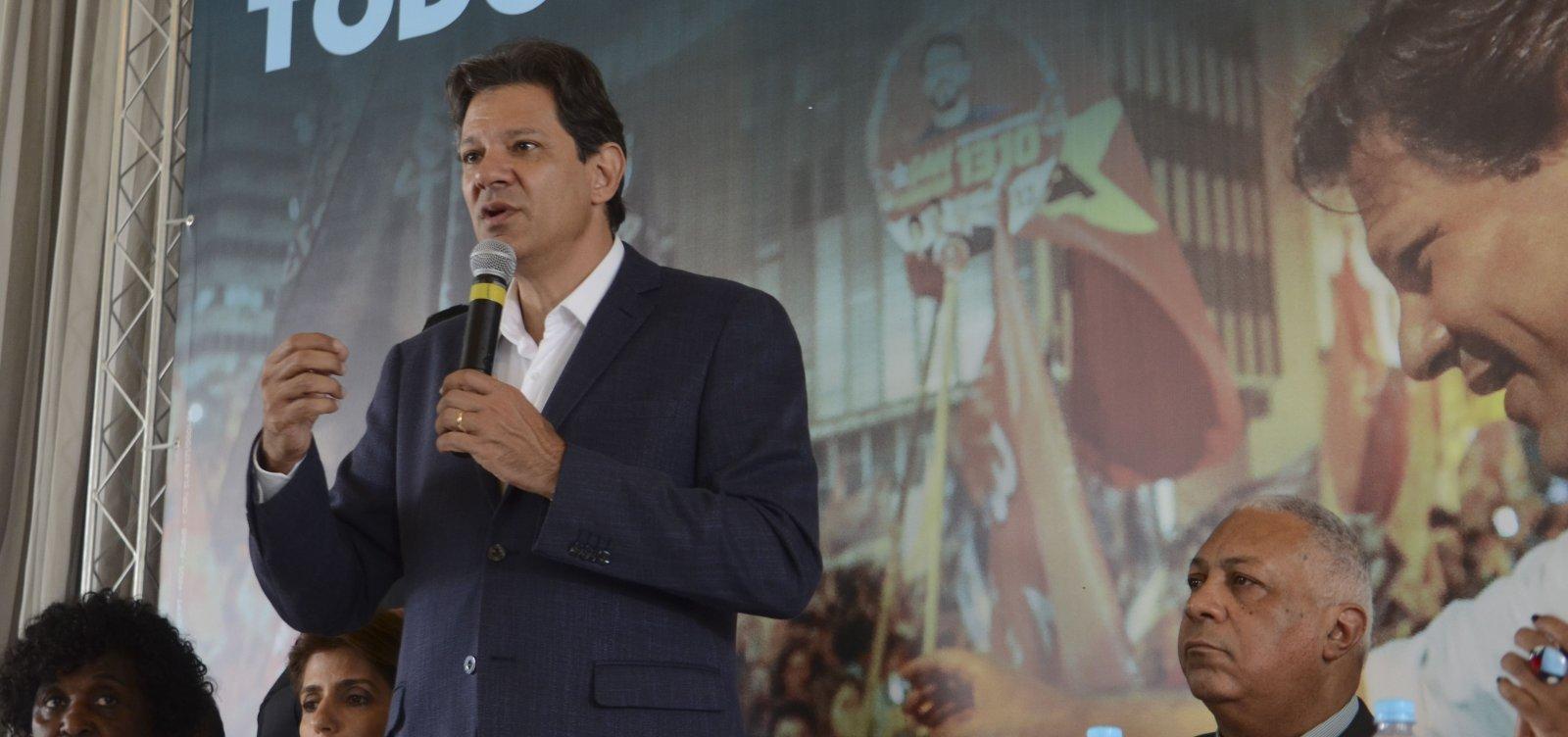 Haddad chama Bolsonaro de 'soldadinho de araque' e o acusa de montar organização criminosa contra o PT
