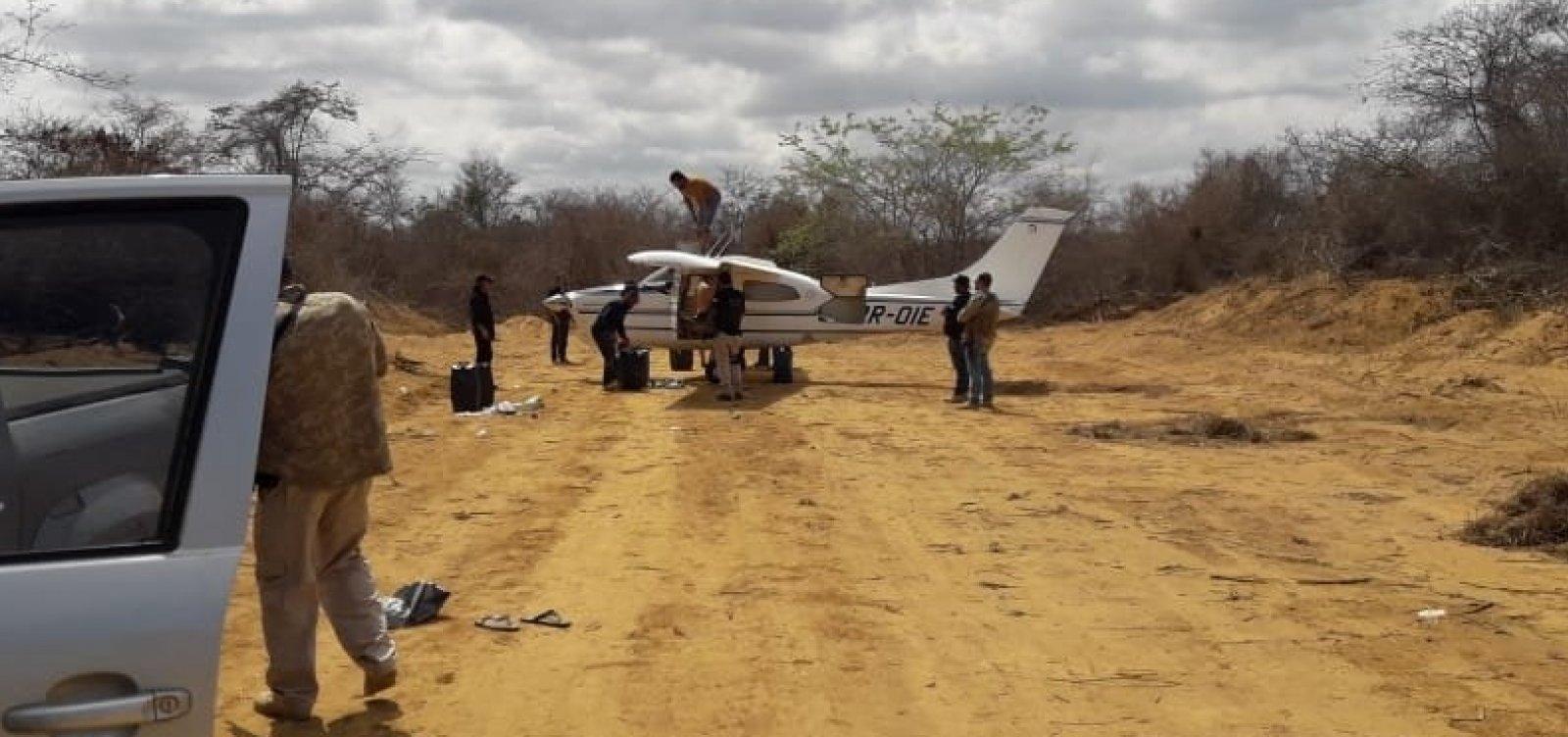 Polícia apreende avião envolvido em transporte interestadual de drogas