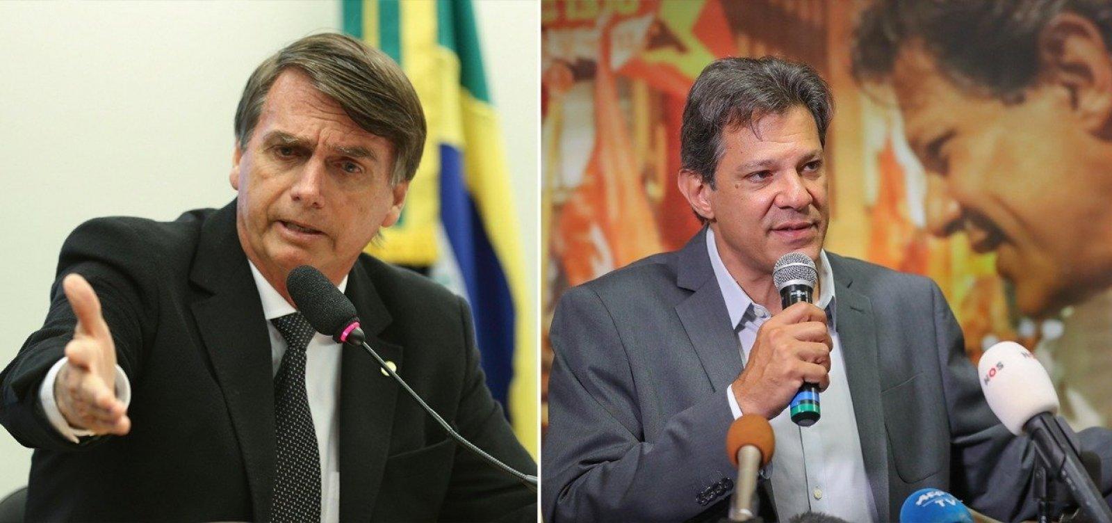 TSE nega direito de resposta de Bolsonaro contra Haddad