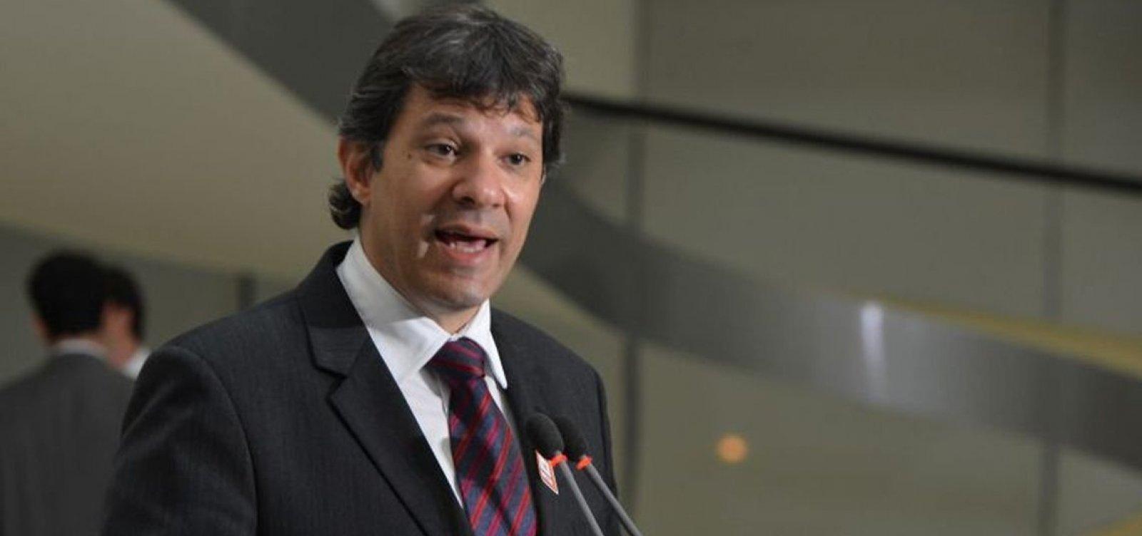 Haddad diz que instituições se sentem ameaçadas pela linha dura das Forças Armadas