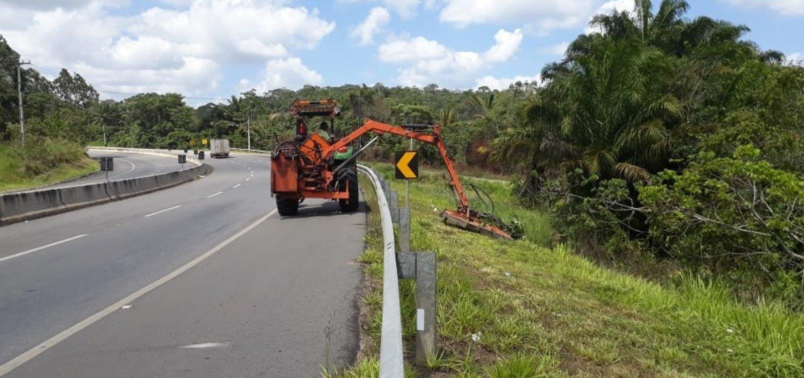 Obras de manutenção são realizadas na Via Parafuso