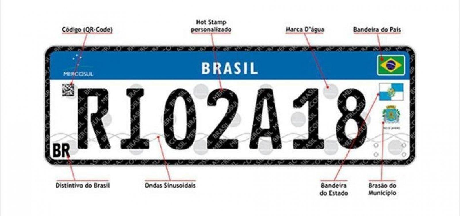 Contran acata Justiça e suspende novas placas de carro do Mercosul no País