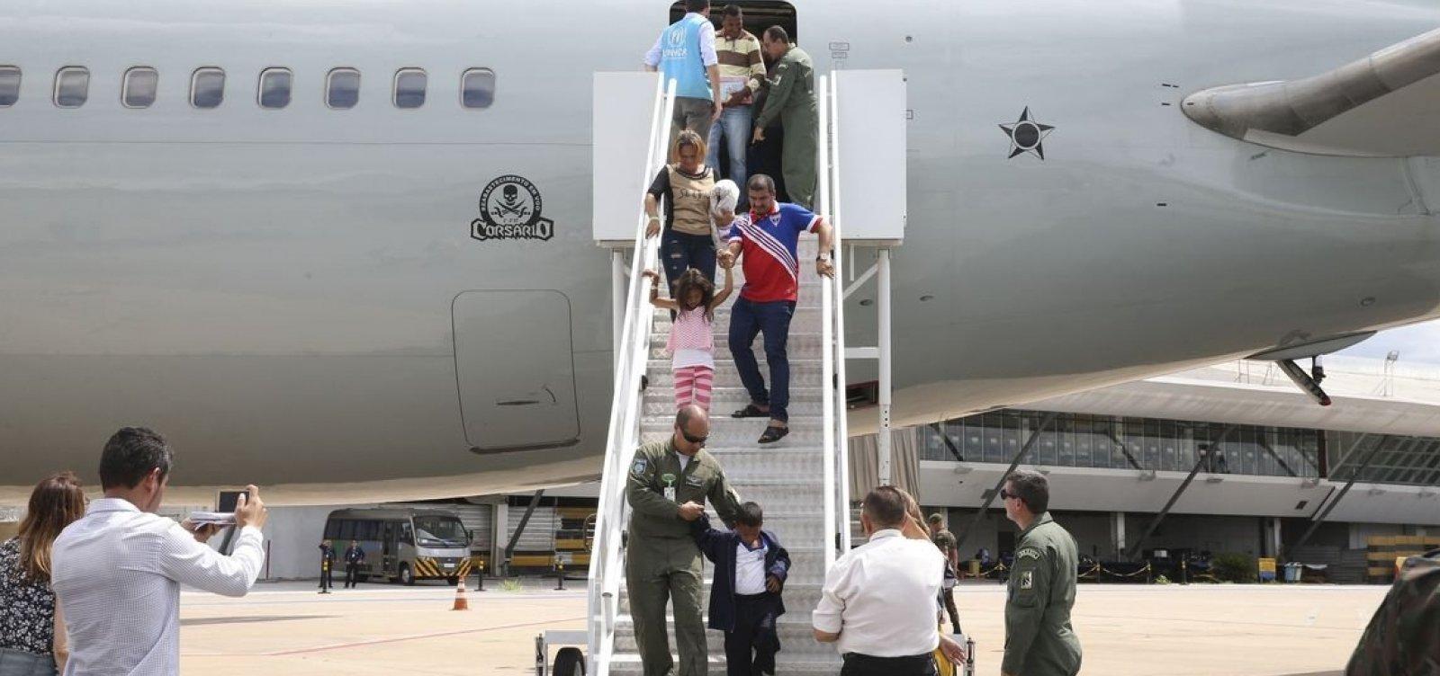 Venezuelanos refugiados chegam hoje a Salvador e Alagoinhas