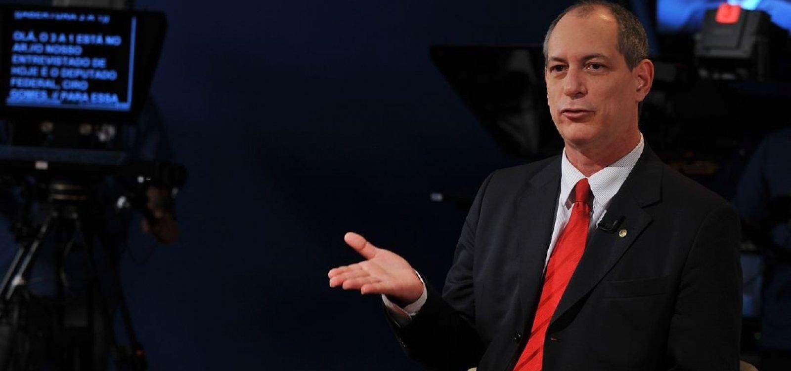 Presidente do PDT diz que Ciro Gomes vai gravar vídeo de apoio a Haddad