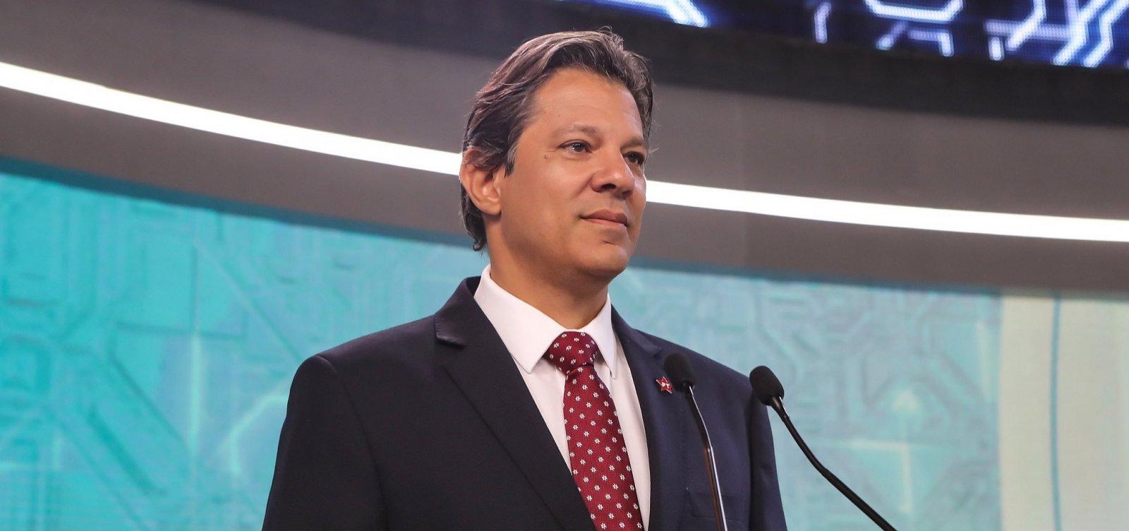 Em Salvador, Haddad diz esperar crescer '3 ou 4' pontos com apoio de Ciro