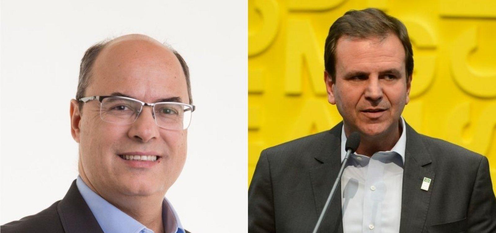 Boca de urna: Ibope aponta Witzel com 55% e Paes com 45%