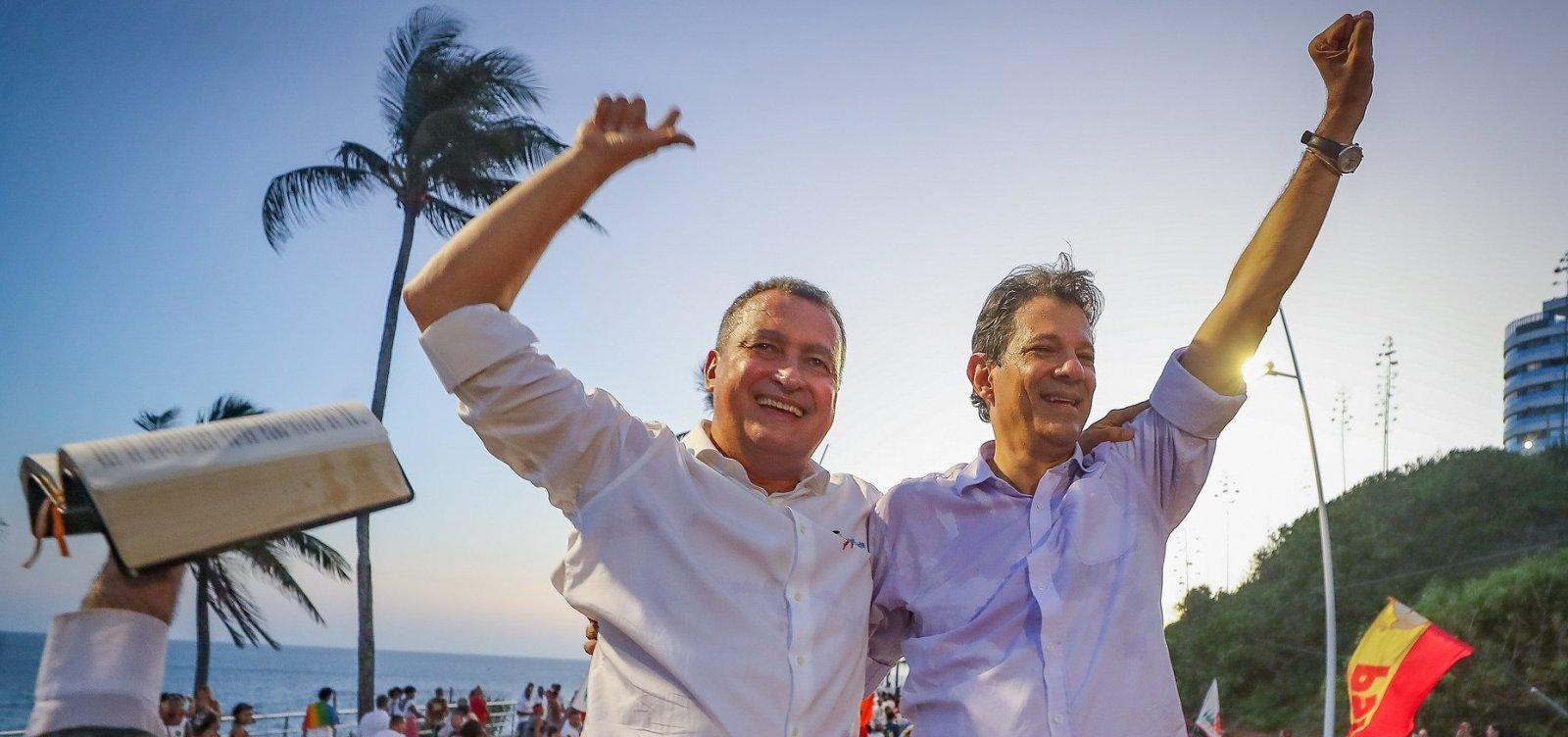 Na Bahia, Haddad teve 72% dos votos