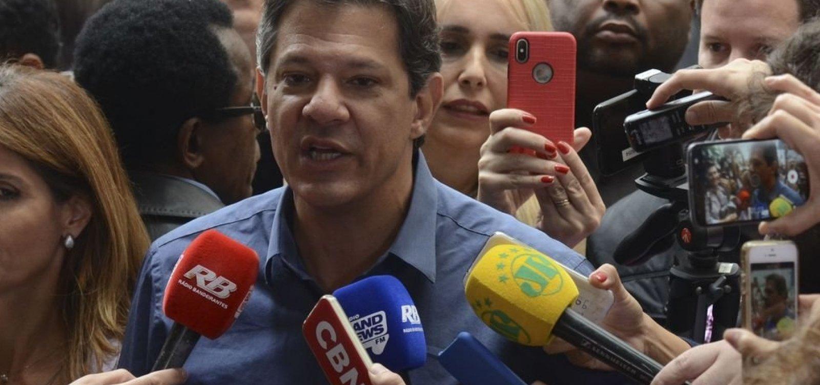 Após vitória de Bolsonaro, Haddad fala em 'compromisso com a democracia'