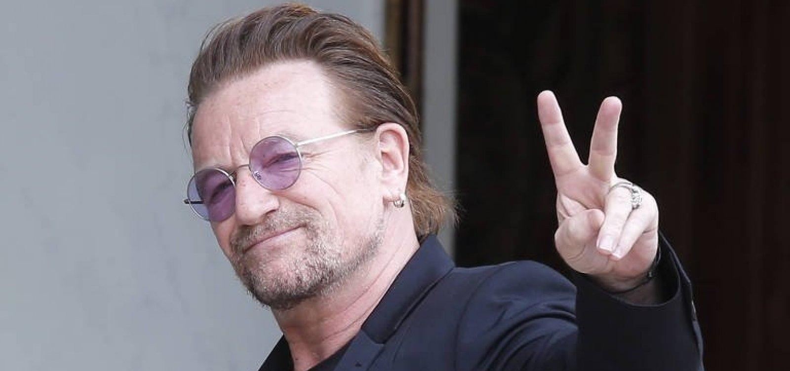Bono ironiza Bolsonaro em show do U2