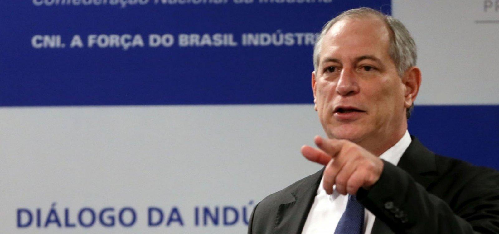 Ciro diz que fará oposição a Bolsonaro 'diferente dos que defendem interesses mesquinhos'