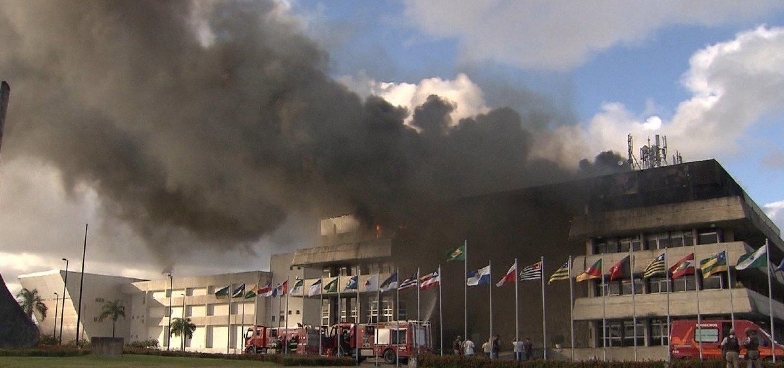 Perícia descarta incêndio criminoso na Assembleia Legislativa da Bahia
