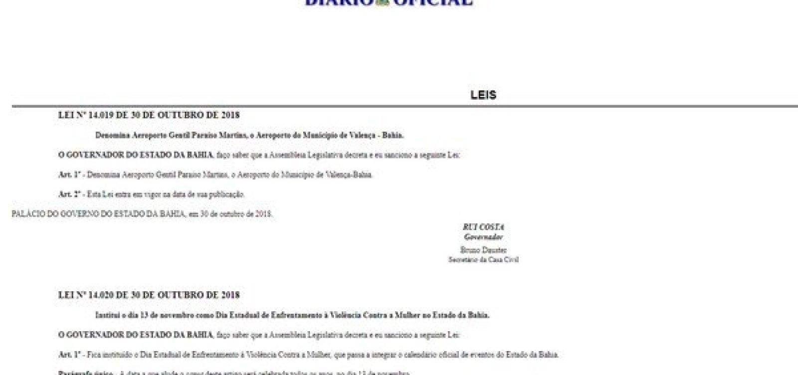Governo institui 'Dia Estadual de Enfrentamento à Violência Contra a Mulher' na Bahia