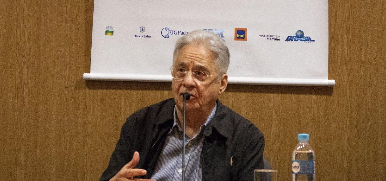 Fernando Henrique diz Bolsonaro vai prejudicar imagem do Brasil no exterior