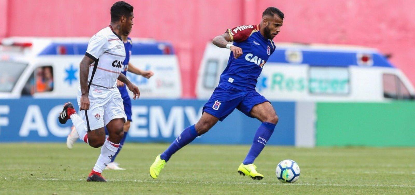 Vitória empata com o lanterna Paraná em 1 a 1 fora de casa