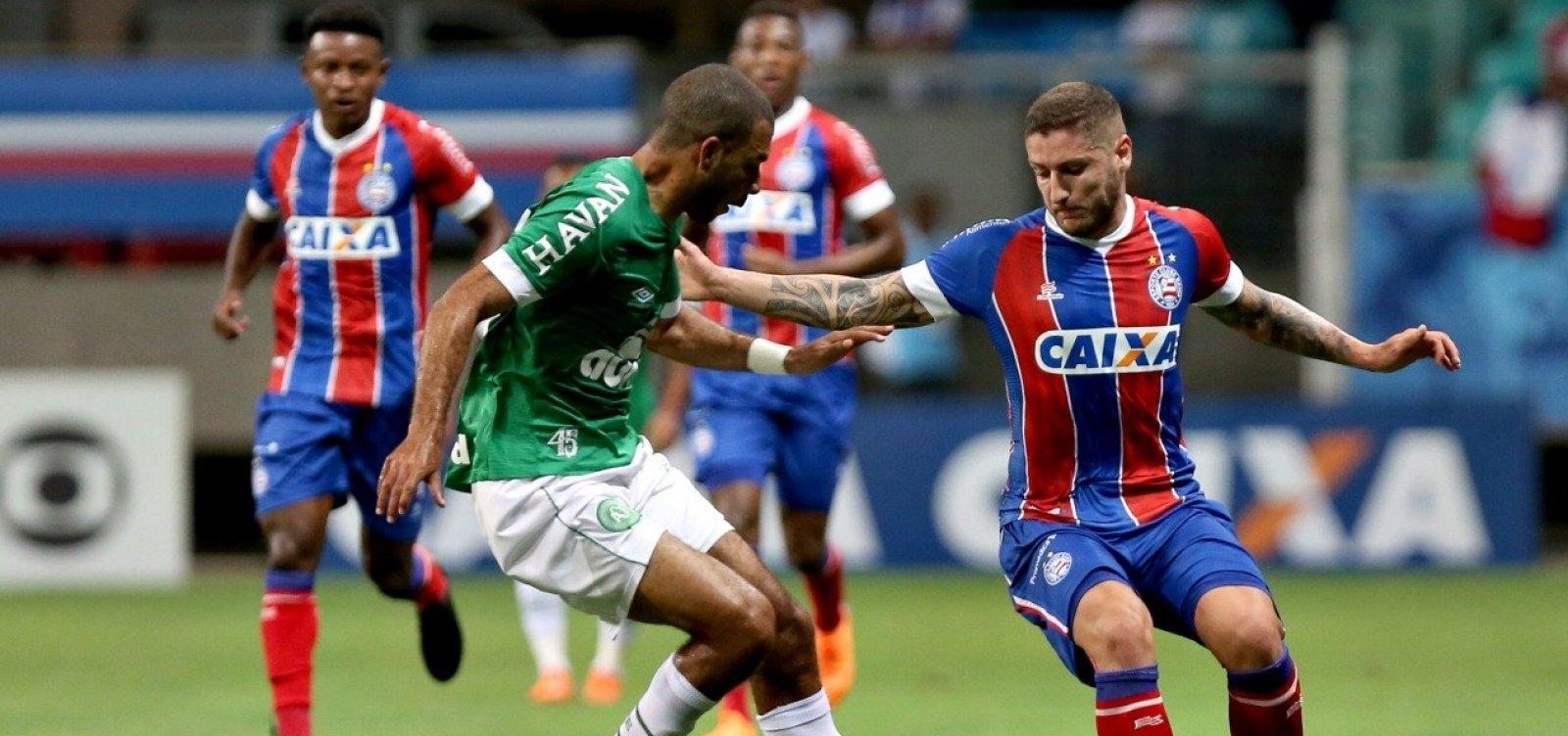 Bahia vence a Chapecoense por 1 a 0 e abre distância da zona de rebaixamento