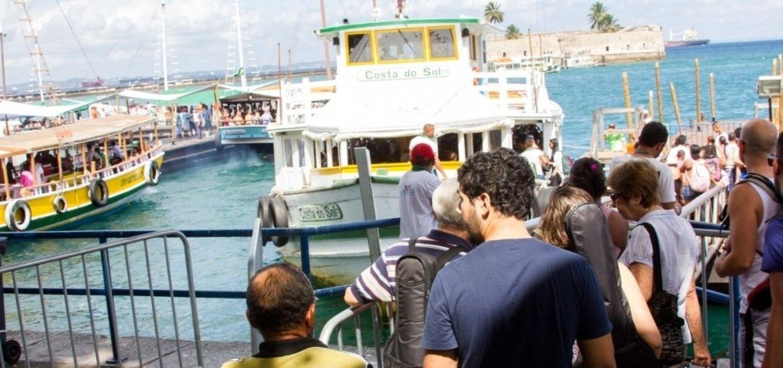 Travessia Salvador-Mar Grande é encerrada mais cedo devido à maré baixa