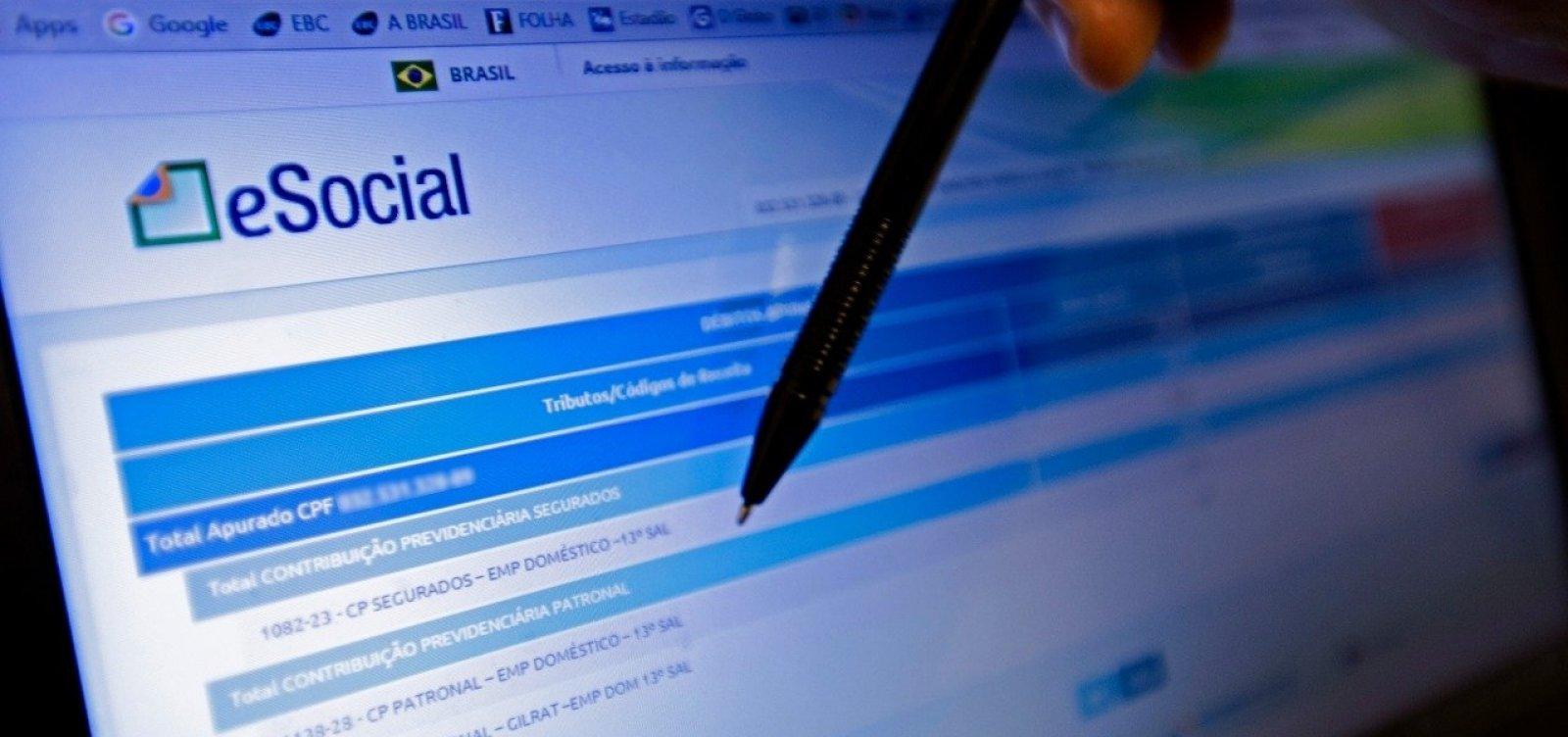 Prazo para pagar eSocial doméstico de novembro acaba na próxima quarta