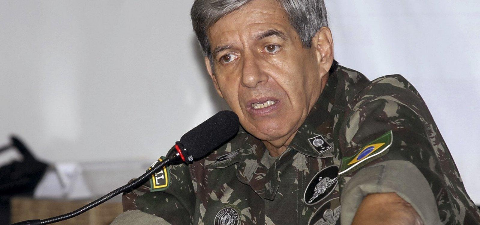 General Heleno defende presença de militares no governo Bolsonaro