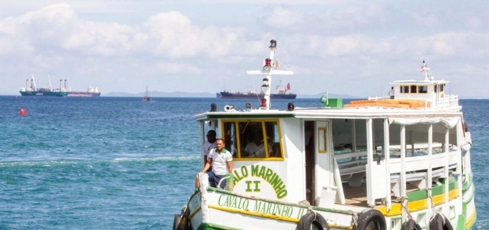 Pelo 3º dia seguido, travessia Salvador-Mar Grande é encerrada mais cedo devido à maré baixa