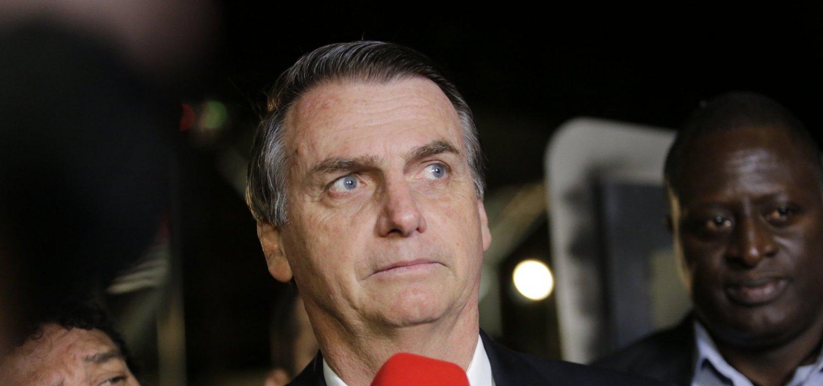 Bolsonaro é contra reajuste de ministros do STF: 'Não é momento'