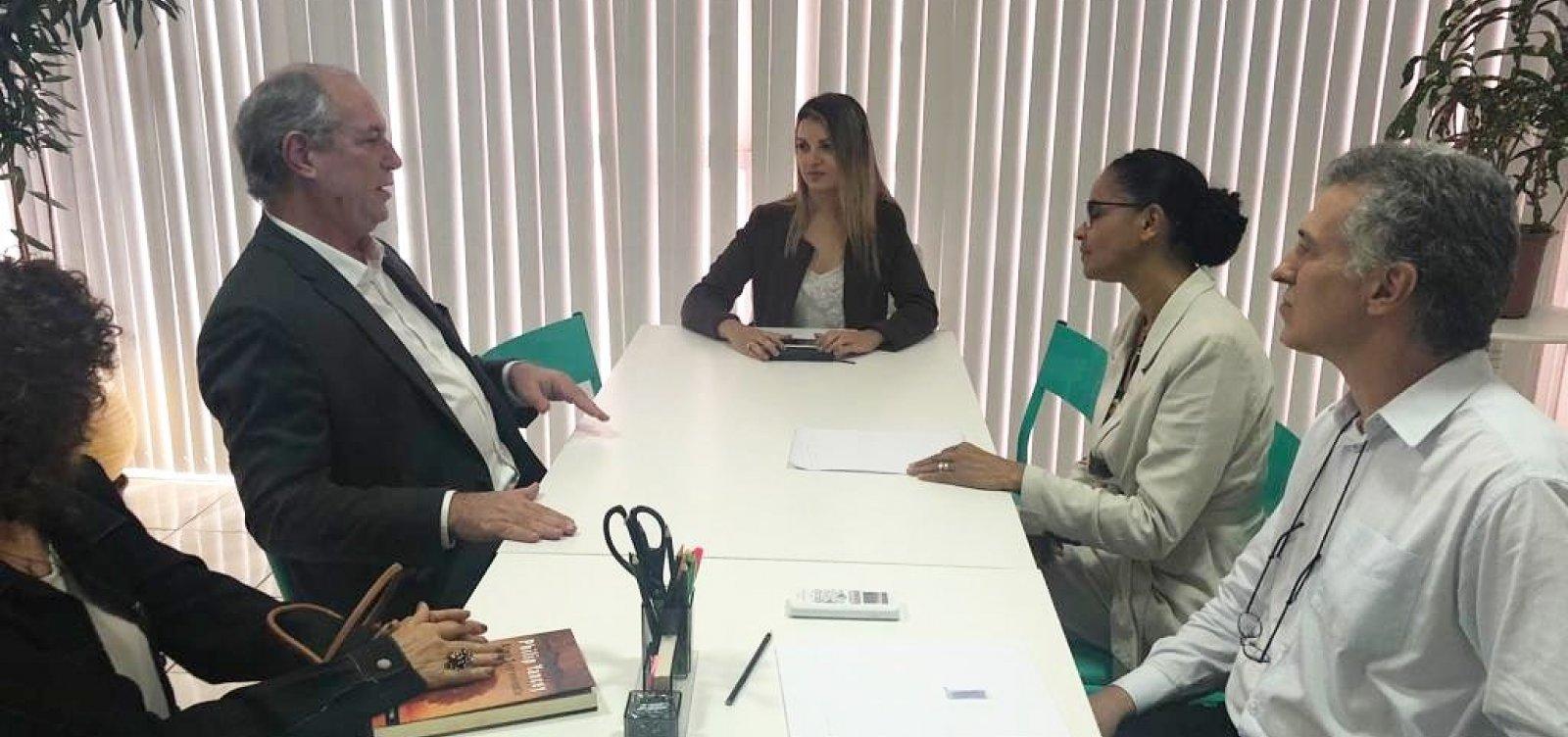 Ciro Gomes visita Marina Silva para discutir futuro do Brasil e aliança como oposição