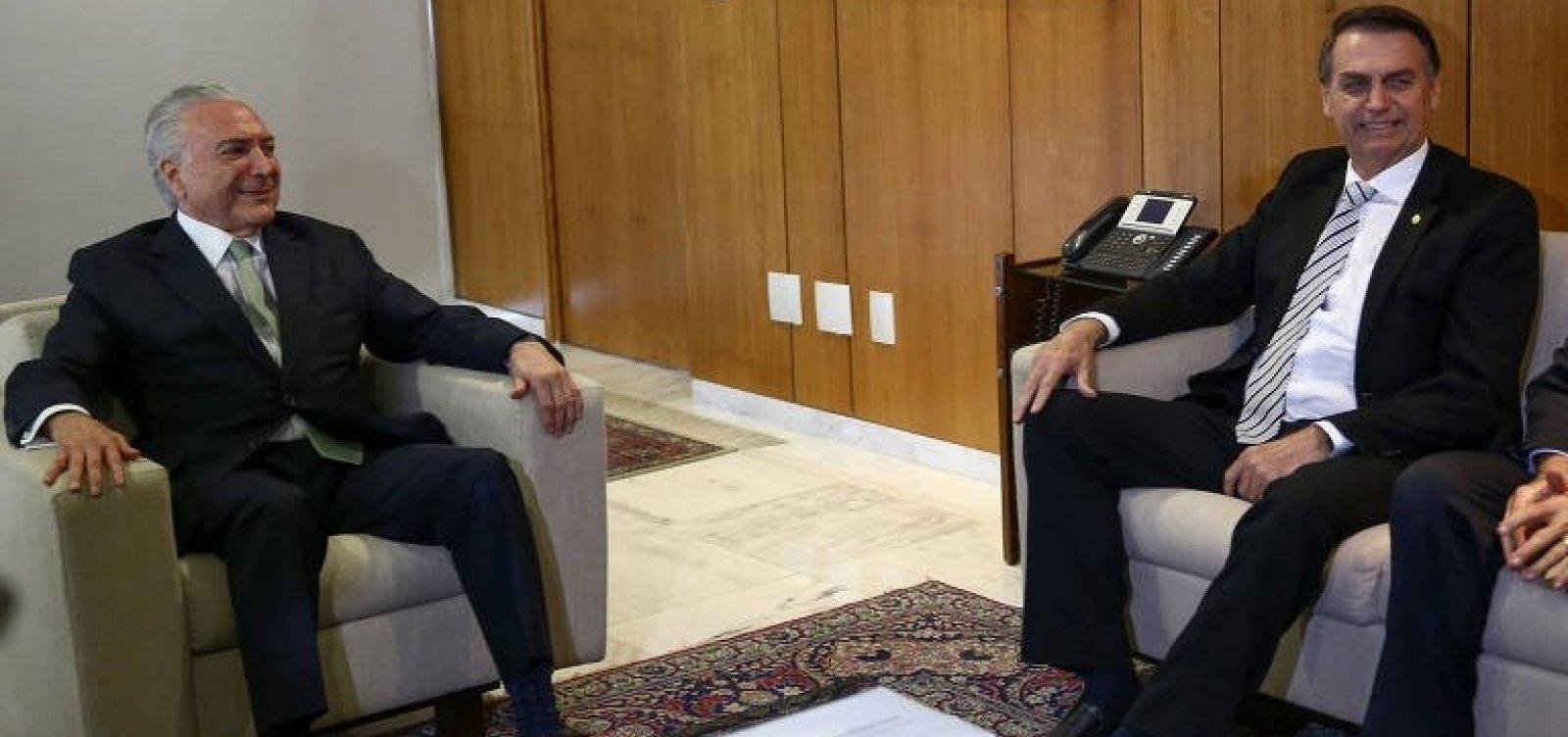 Temer convida Bolsonaro para reunião do G-20, na Argentina
