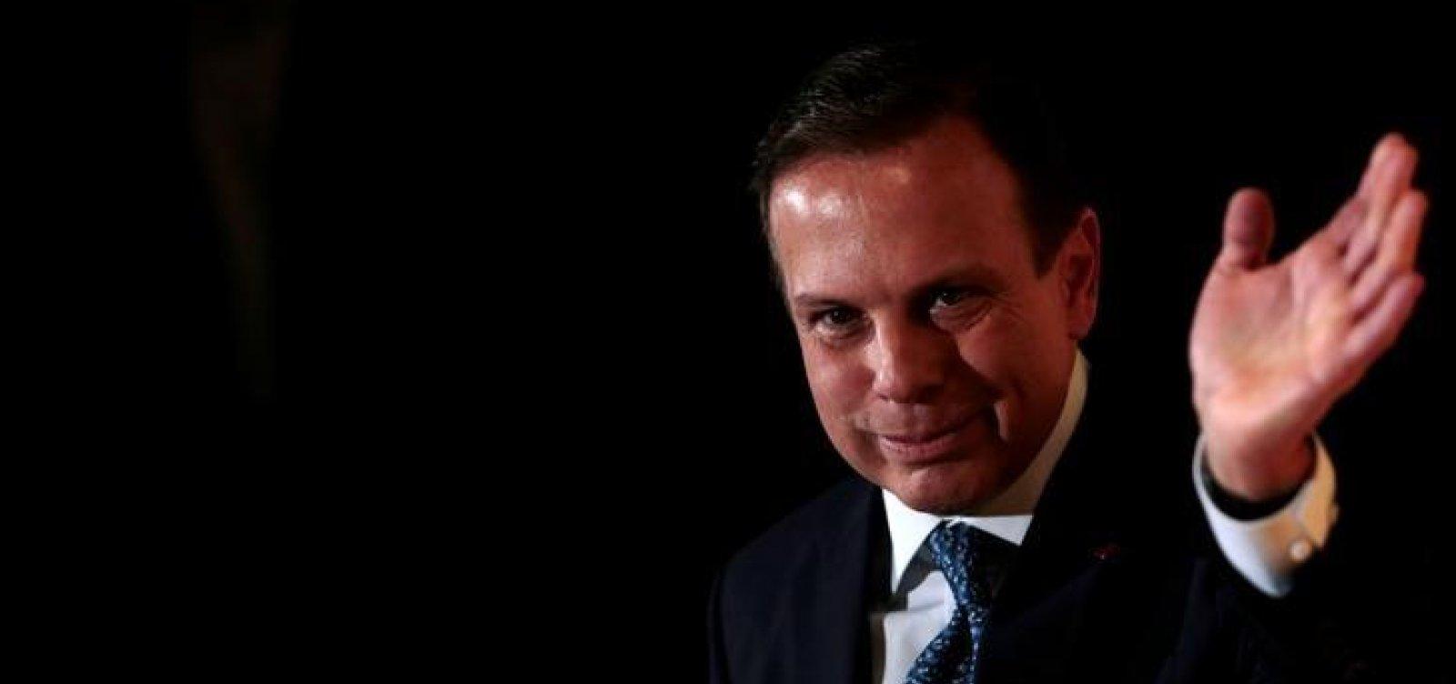 'PSDB não ficará mais em cima do muro', diz Doria em apoio a Bolsonaro