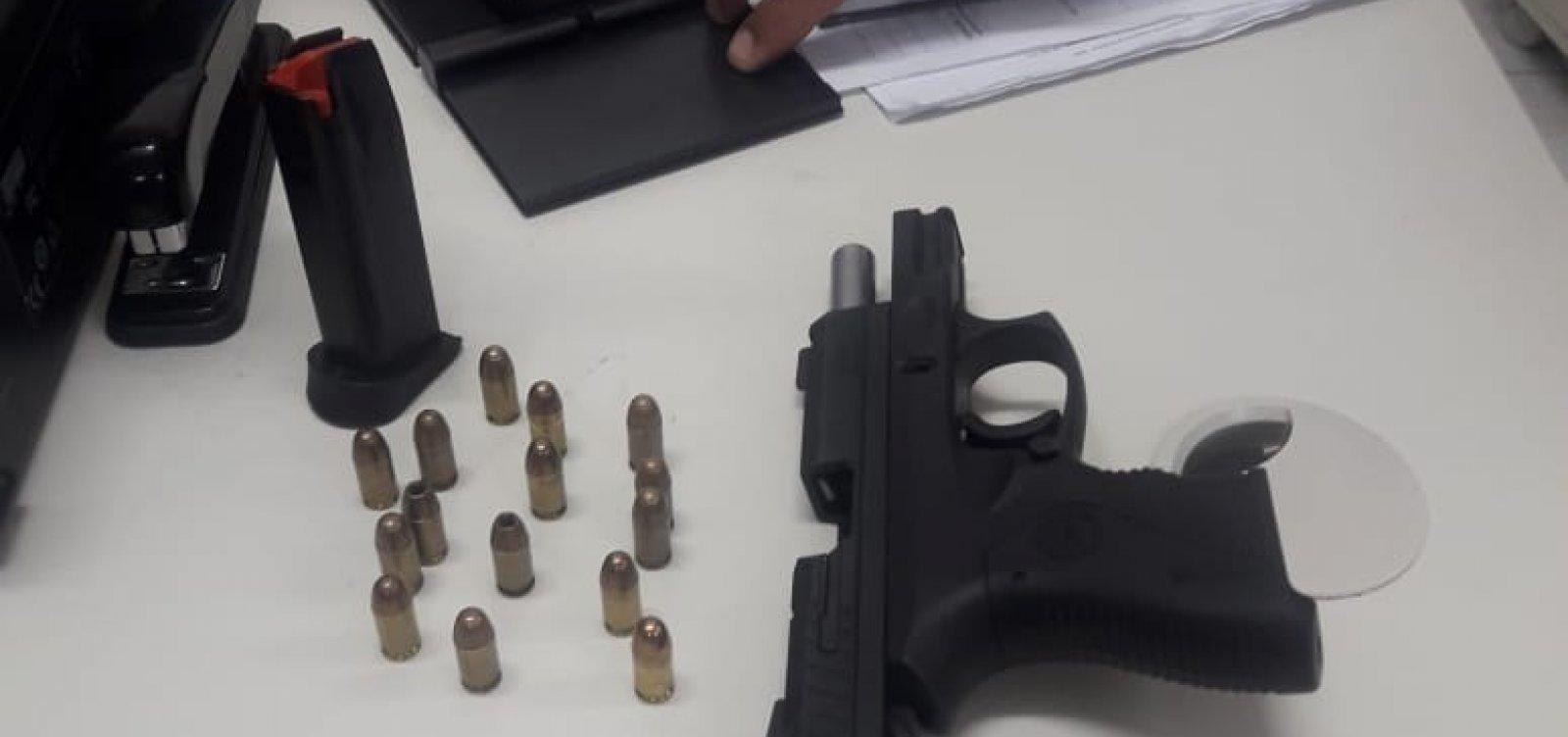 Cinco armas de fogo são apreendidas na Operação Carnaval em toda a Bahia; três em Salvador