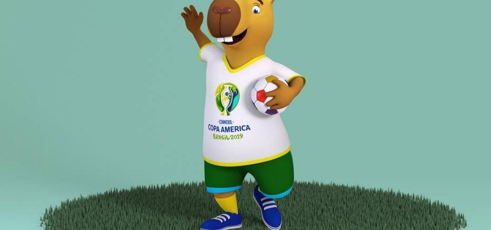 Copa América terá capivara como mascote; público vai escolher o nome
